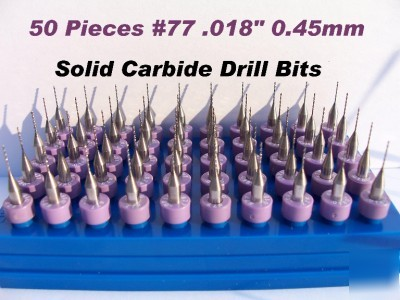 50 pieces solid carbide drill BITS45MM #77 .018