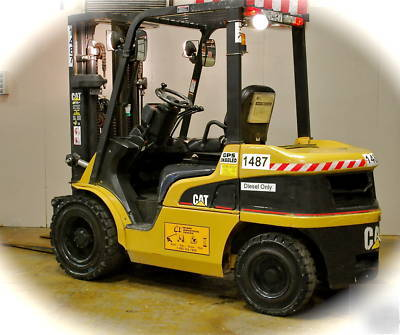 Cat P6000 diesel solid pneumatic hyster yale forklift