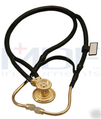 Mdf 22K goldplated 2-in-1 sprague rappaport stethoscope