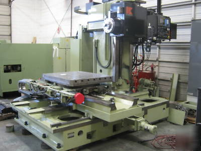 Kuraki kbt 10 dx horizontal boring mill cnc for 11x table
