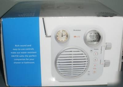 Brookstone Water Resistant Digital Shower Radio Sr V2 0