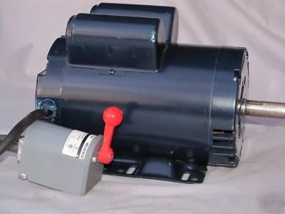 Leeson 2 hp motor single phase drum reversing switch for Reversing switch for single phase motor