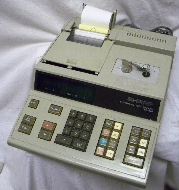 Sharp Be 2520 Auditing Bank Offline Teller Machine