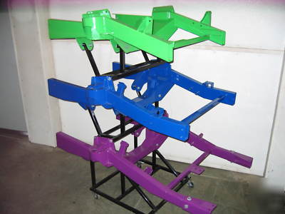 Street rod chassis fixtures/jigs and components