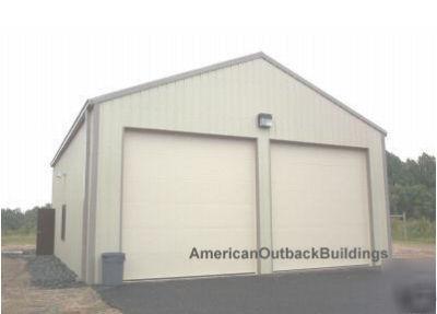 Extra Large 2 Car Garage Shop Steel Building Metal Kit
