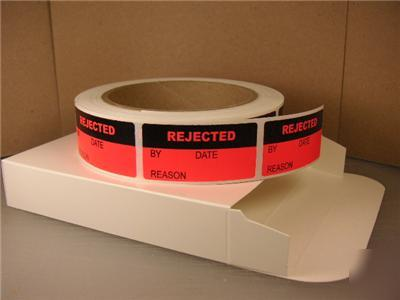 Rejected sticker label production inventory quality mfg